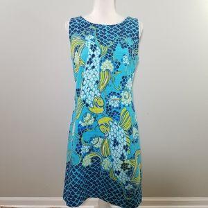 Lilly Pulitzer koi turquoise shift dress